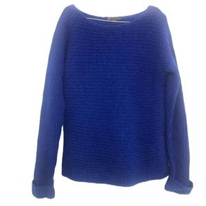 Armani Exchange Blue Wool Blend Sweater Size Small